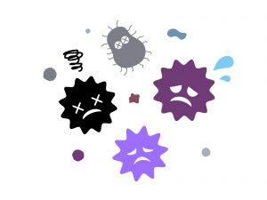 雑菌減少イメージ